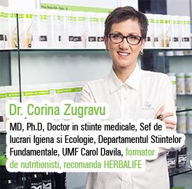 Dr Corina Zugravu, membru al Comitetului Consultativ de Nutritie Herbalife